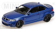 BMW 1 Series M Coupe E82 2011-12 Monte Carlo Blue Metallic 1:43 Minichamps