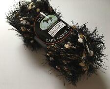 Dark Horse Yarns Bliss #520 Animal Print Fancy Fur Black Eyelash w Popcorn 100g