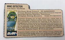 Vintage GI JOE File Card - TRIPWIRE - VG-EX- 1983 - Retail Version