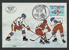 Austria Mk 1987 Ice Hockey World Championship Ice Hockey Maximum Card Maximum Ca.
