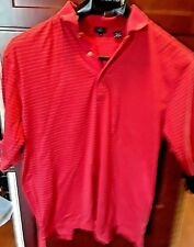Jack Nicklaus Xl Polo Golf Pull Over Red With Stripes Shirt Authentic