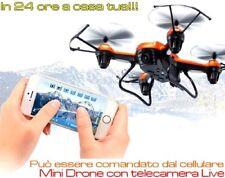 Mini drone con videocamera Live quadricottero economico con telecamera video