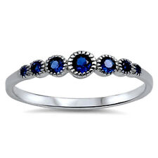 USA Seller Blue Sapphire CZ Ring Sterling Silver 925 Best Deal Jewelry Size 8