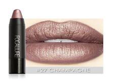 FOCALLURE Lip Color Shimmer Metallic Lipstick-#27-Champagne