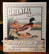 Repro Oriental Powder Mills Smokeless Powder Standing Die Cut