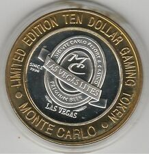 2000 Monte Carlo Millennium Las Vegas Lites .999 Fine Silver $10 Casino Token