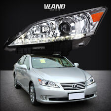 HEADLIGHT FOR 2010-2012 LEXUS ES350 LED DRL PROJECTOR CHROME HOUSING HEAD LAMP