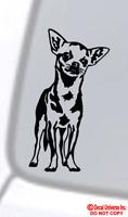 CHIHUAHUA Vinyl Decal Sticker Car Window Wall Bumper Funny Dog Cute Puppy Paw