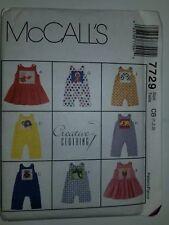 Romper Jumpsuit Jumper Sewing Pattern Toddler 1 2 3 McCalls 7729 UC FF One Piece