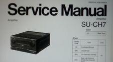 service manual amplificatore stereo Technics Panasonic SU-CH7 su carta a4