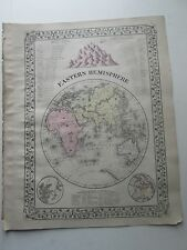 1884 S. AUGUSTUS MITCHELL ATLAS MAP of EASTERN HEMISPHERE, 1884 ATLAS & 1881 MAP