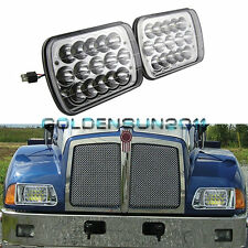 Pair Kenworth T300 LED Headlights Headlamps Low/High Beam Bulb Kit 1997-2010