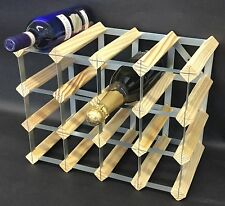 Rammento 16 Bottle Pine Wooden Wine rack FULLY ASSEMBLED Made in the UK