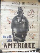 Poster 1939 falik paris musee de l'homme 23x31 louis germain