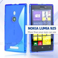 Premium BLUE S CURVE GEL TPU Jelly CASE COVER FOR Nokia Lumia 925