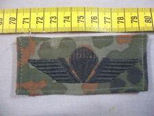Fallschirmspringerabzeichen Dänemark in schwarz auf Bundeswehr flecktarn