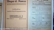 21045 Unger  Kunze Katalog Klosetts Waschbecken Wannen und Zubehör 1930