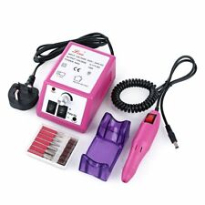 Electric Acrylic Nail Art File Drill Set Manicure Machine Sand Drill Pink Kit