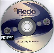 ReDo Easy Clone BackUp,Restore, Even SSD Drives, Partition your Hard drive, 8&10