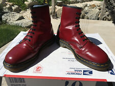 90's Vintage Dr Martens US 12 oxblood Boots 1460 cherry red doc shoes 8-eye uk11