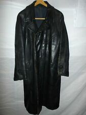 zg3 WWII German Leather Overcoat Size 38 Length 46