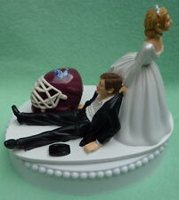Wedding Cake Topper Colorado Avalanche Hockey Themed Avs Puck Sports Fan Groom