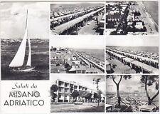 RIMINI MISANO ADRIATICO 09 SALUTI da... VEDUTINE Cartolina FOTOGR. viagg. 1963