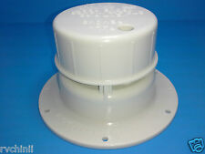 RV Camper Trailer Roof vent Cap, OEM Removable Top, White Plumbing Sewer Vent.