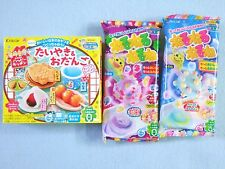 3 PCS SET Kracie Popin Cookin Japanese Candy Making Kit Taiyaki Nerunerunerune