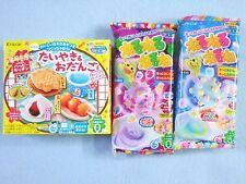 3 PCS SET Kracie Popin Cookin Japanese Candy Making Kit Taiyaki Nerunerunerune