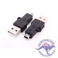 1 x USB A 2.0 MALE TO MINI 4 PIN HIROSE MALE ADAPTER CONVERTER (036)