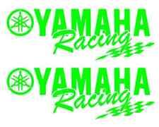 2 Yamaha Racing Decal GREEN Sticker Motocross Jetski Waverunner yz r6 r1 mx yz