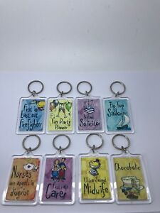 JOB OCCUPATION KEYRINGS - 29 Various Occupation Designs Available