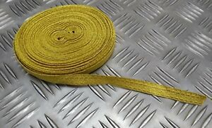 """Genuine British Made Military Issue 1/2"""" Gold Mylar Rank Lace Braided Tape RC8"""
