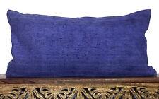 Over dyed Vintage Bohemian Handmade Turkish Kilim 12 x 24 Lumbar Pillow Cover