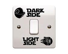 4 X Star Wars-laterales de luz/lado Oscuro Vinilo Autoadhesivo Con Interruptor De La Luz (estilo 3)