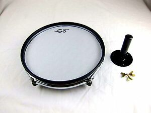 """Goedrum 10"""" Electronic Drum Pad with Rim Silencer / Single Trigger / Mesh Head"""