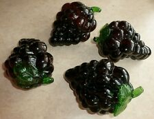 4 Molded Glass Grape Clusters