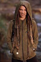 Steampunk Flower of Life Jacket - Gypsy Boho Coat Zip Up Hoodie Festival