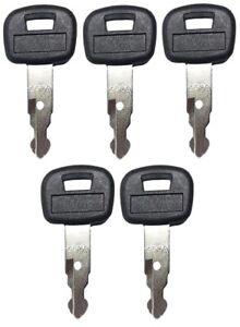 (5) Key For Kubota Mini Excavator, Backhoe, Skid Steer, Track Loader 459A