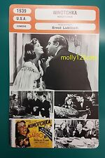 US Movie Ninotchka Greta Garbo Melvyn Douglas Bela Lugosi French Film Trade Card