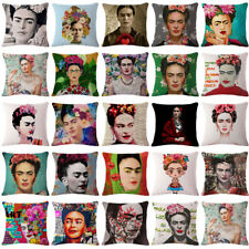 17''Linen/Cotton Frida Kahlo Print Cushion Cover Pillow Case Sofa Bed Home Decor