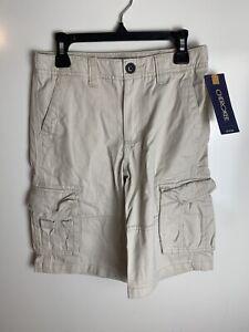 NWT Youth Boys Cherokee Khaki Shorts -Adj. Waist -Size 10