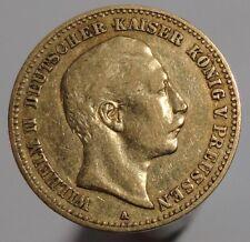 ORIGINAL PRUSSIA PREUSSEN WILHELM II GOLD 10 MARK 1890 A KAISERREICH