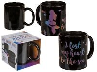 Black Magic Stoneware Mug Mermaid Colour Changing Thermal Effect Hot Drinks Tea