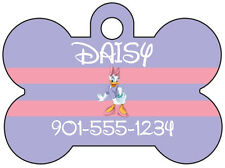 Disney Daisy Duck Pet Id Dog Tag Personalized w/ Your Pet's Name & Number