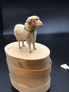 Alt Wollschafe  Wollschafe Puppenstube Krippenschaf Ostern Spielzeug