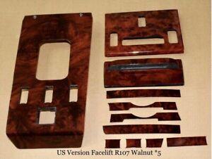 MERCEDES W107 R107 Burl Walnut Wood Interior Set Genuine OEM Quality Veneer US