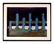 Six Figures Surreal Landscape Original Acrylic Painting Wall Art