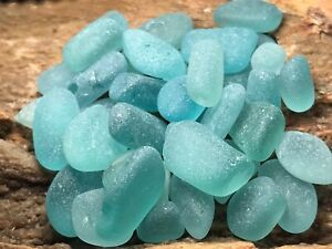 Japanese Surf-tumbled  Sea Glass - Aqua Teal Turquoise Tiny Beach Glass